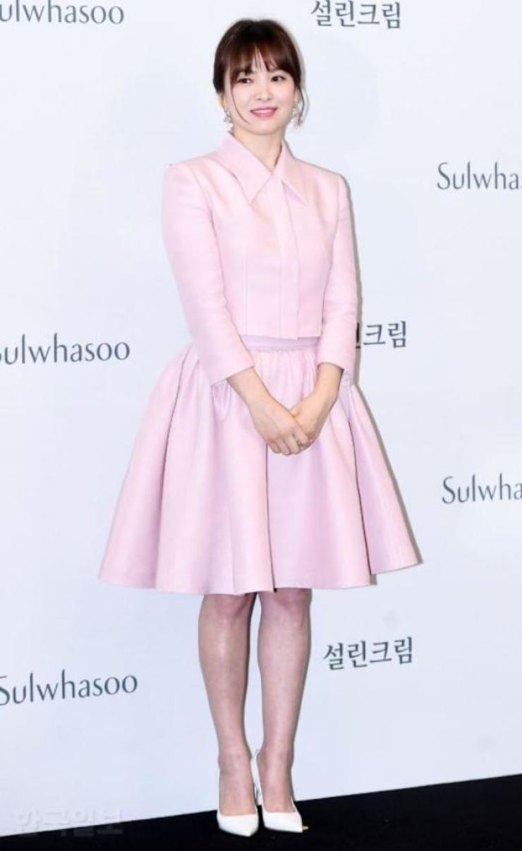 Actress Song Hye-kyo is in New York for an art course. /Korea Times file