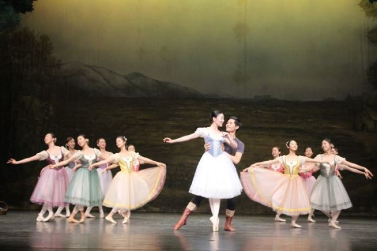 This photo provided by the Mapo Cultural Foundation shows Kim Seh-yun, center, performing 'Giselle.'
