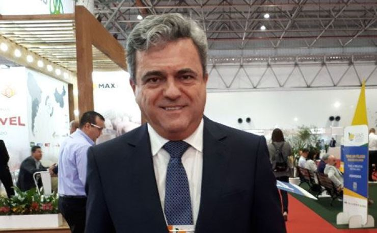 Ricardo Santin, CEO of the Brazilian Association of Animal Protein (ABPA), at the 2019 International Poultry and Pork Expo (SIAVS) on Aug 27 (local time) in Sao Paulo. Korea Times photo by Dong Sun-hwa