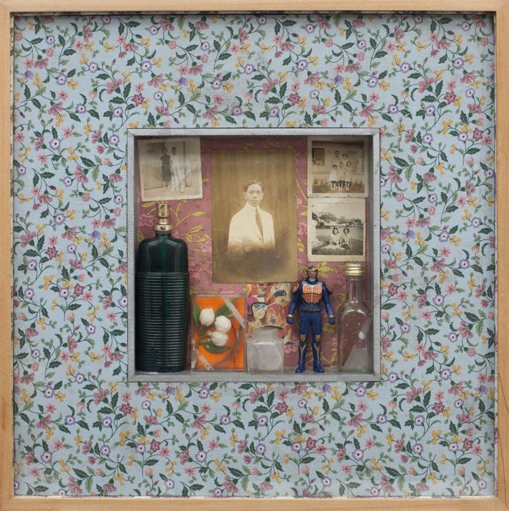 Norberto Roldan's 'Fugitives from years of captivity xx_assemblage with old photographs and found objects' (2018) / Courtesy of Hansae Yes24 Foundation