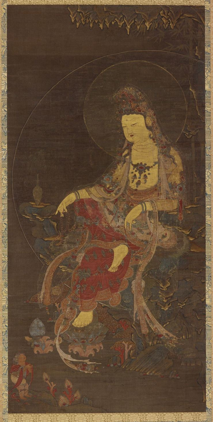 'Water-Moon Avalokitesvara (Suwol Gwaneum bosal)' from the mid-14th century Goryeo period / Courtesy of the Freer and Sackler Galleries of the Smithsonian Institution