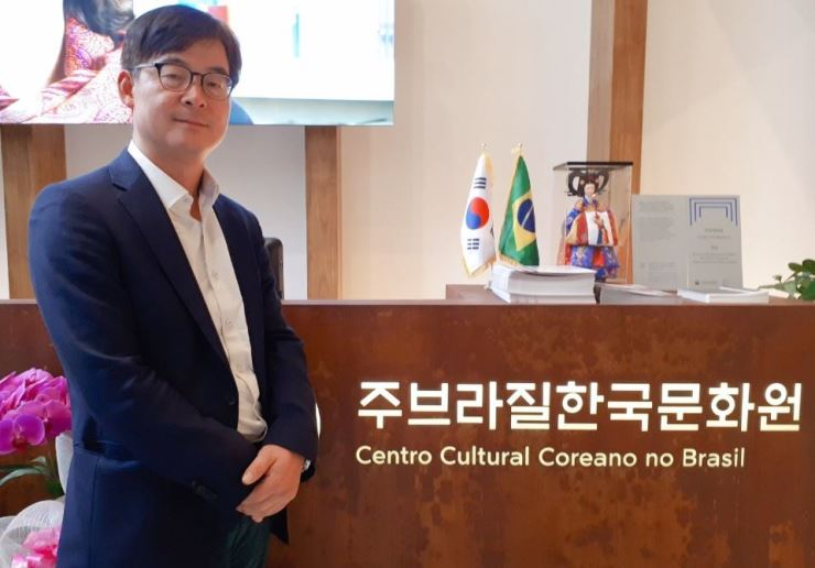 Kwon Young-sang, the Chief of the Korean Cultural Center in Sao Paulo, Brazil. Korea Times photo by Dong Sun-hwa