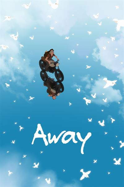 The animated feature film 'Away' revolves around a boy's adventure to a mysterious land to find his family. He is chased by a giant monster. Courtesy of Gints Zilbalodis