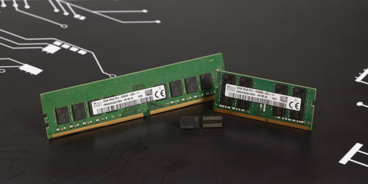 1znm 16-Gigabit DDR4 DRAM developed by SK hynix / Courtesy of SK hynix