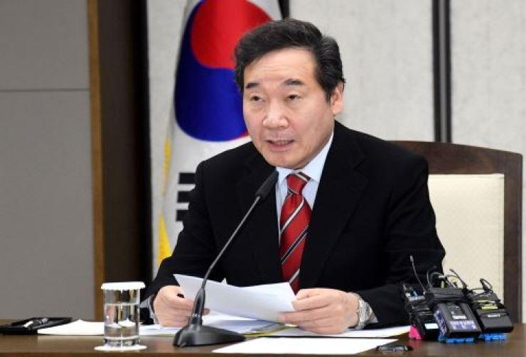 Prime Minister Lee Nak-yon. Korea Times file