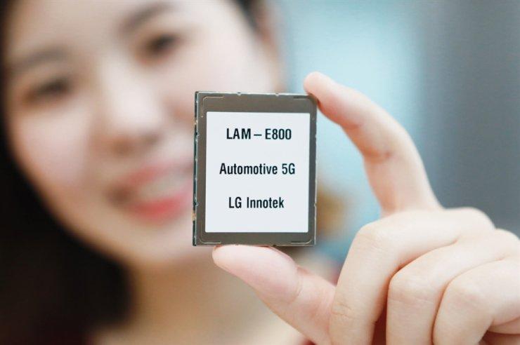 LG Innotek's 5G-based communication module for vehicles / Courtesy of LG Innotek