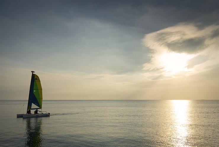 A sailing boat is seen in Phuket, Thailand. The person in the photo is unrelated to the story. Gettyimagesbank