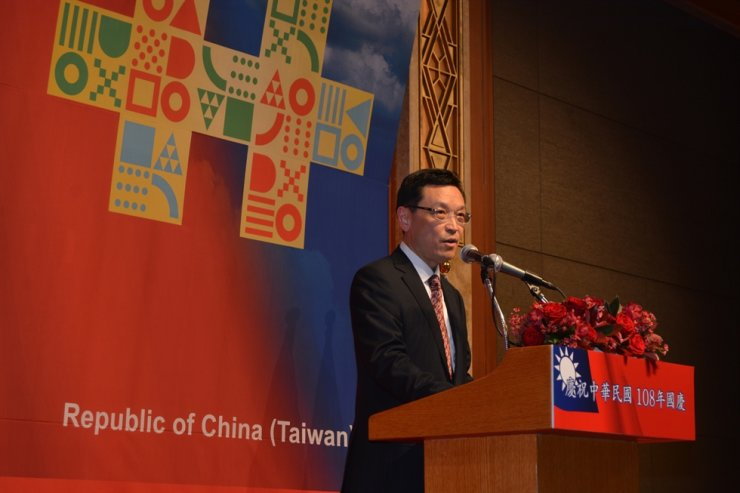 Daniel D. W. Tang, representative of the Taipei Mission in Korea, delivers a speech during a reception to celebrate Taiwan's National Day at Lotte Hotel in Seoul, Oct. 7. / Taipei Mission in Korea