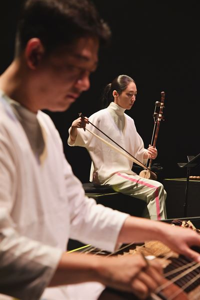 'SaengSa_music of the living, to those beyond' presents contemporary music inspired by traditional Korean music, as well as animated visual art and futuristic stage designs. The contemporary music and visual performance will take place for two days this weekend on Oct. 19-20 at Sejong Center for the Performing Arts' S Theater in central Seoul. Courtesy of WhatWhy Art