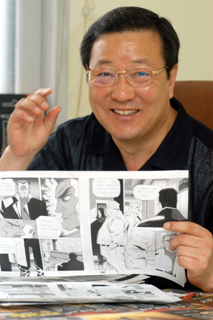 The late cartoonist Park Bong-seong / Korea Times file