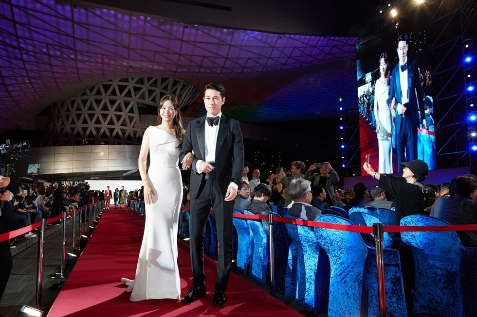 The 24th Busan International Film Festival (BIFF) kicked off Thursday, with a red carpet event and the opening ceremony at the Busan Cinema Center. The festival will run through Oct. 12 and feature 303 films from 85 countries. Courtesy of BIFF