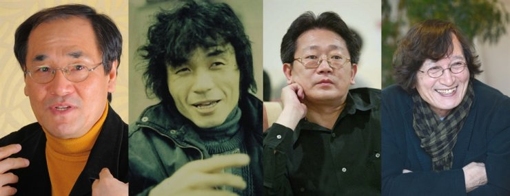 From left are directors Bae Chang-ho; Jang Seon-woo; Park Gwang-soo and Jung Ji-young. IN the 1980s and 90s, they produced thought-provoking films showing a departure from old-fashioned Korean movies which repeated the same old lover story tropes. The Busan International Film Festival later dubbed them 'New Wave' filmmakers. / Korea Times file