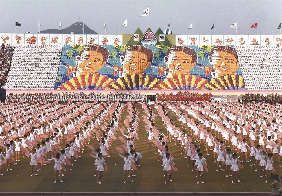 The 1951 games in Gwangju took place during the Korean War. Courtesy of Bae Soon-hak