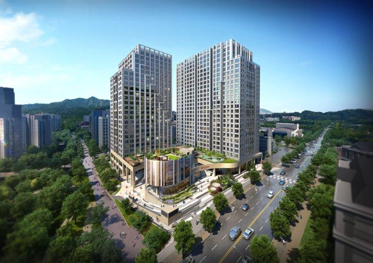 An artist's image of Hillstate Gwacheon. Courtesy of Hyundai E&C