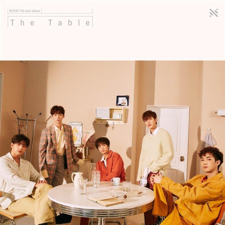 Official poster for NU'EST's seventh mini-album 'The Table'/ Courtesy of PLEDIS Entertainment