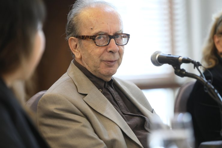 Ismail Kadare, 83, looks out at the press conference held at Press Center Seoul, Wednesday./ Courtesy of Toji Cultural Foundation.