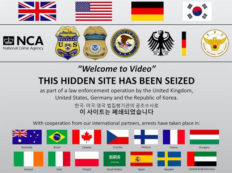 An undated handout picture released by Britain's National Crime Agency (NCA) in London on Oct. 16, 2019, shows a screen shot of the seized dark web 'Welcome To Video' website. U.K. and U.S. authorities investigating the site run from Korea announced the arrest of more than 330 suspects in 38 countries. The NCA said the site contained 250,000 videos that were downloaded a million times by users across the world. AFP