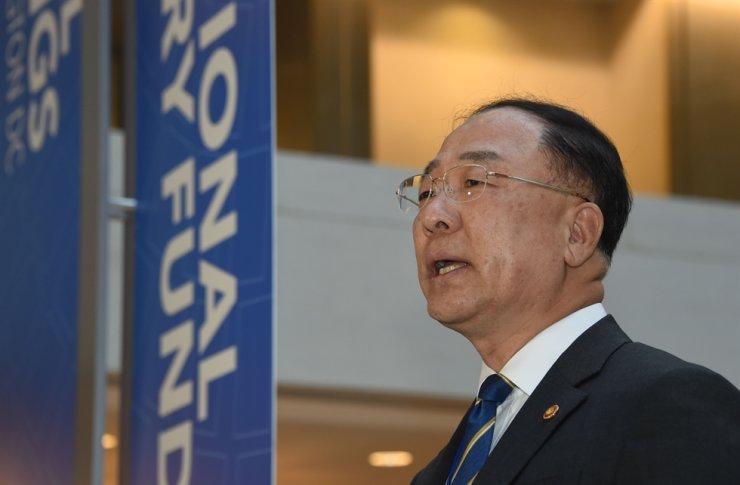 Finance Minister Hong Nam-ki / Yonhap