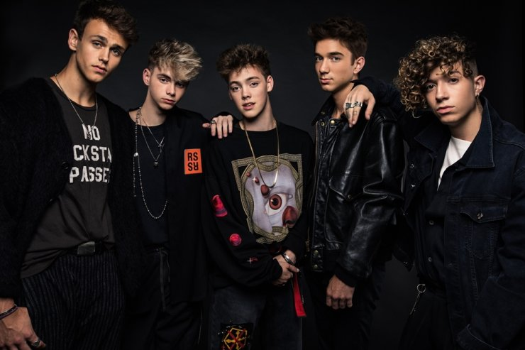 From left, Jonah Marais, Corbyn Besson, Zach Herron, Daniel Seavey and Jack Avery./ Courtesy of Live Nation Korea