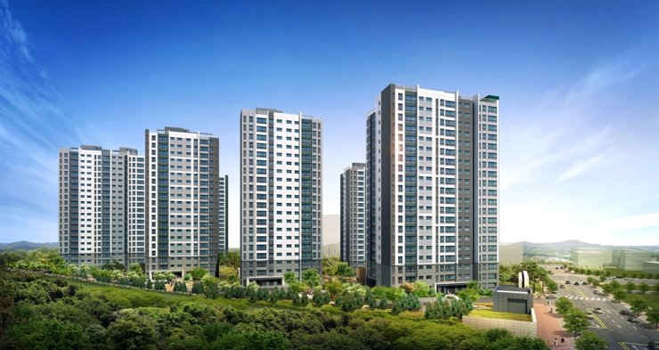 An artist's rendering of a Prugio apartment complex in Yeoju, Gyeonggi Province / Courtesy of Daewoo Engineering & Construction
