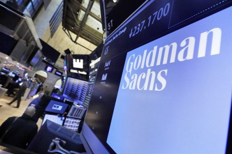 A Goldman Sachs office in the New York Stock Exchange / AP-Yonhap