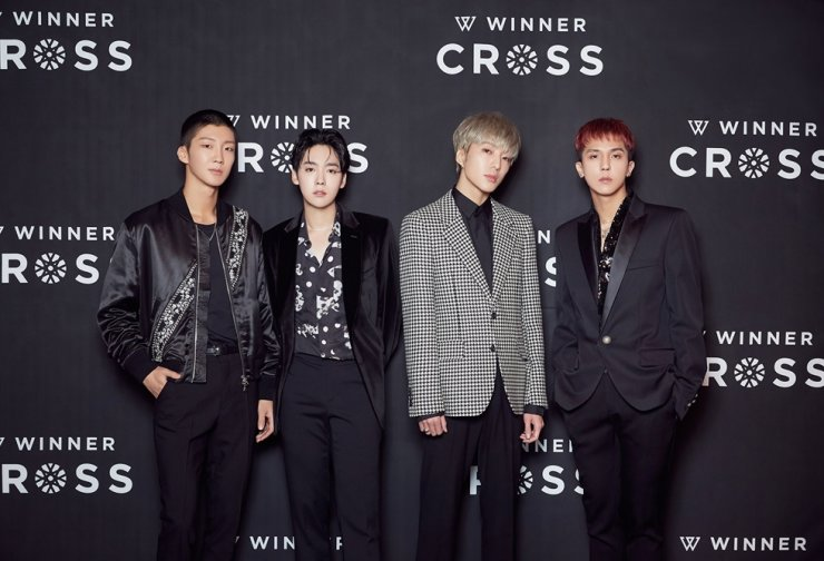 K-pop boy band WINNER released its third mini-album 'CROSS' on Wednesday. Courtesy of YG Entertainment