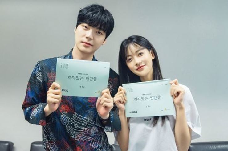 Ahn Jae-hyun and Oh Yeon-seo will appear in MBC's upcoming drama tentatively titled 'People with Flaws.' Courtesy of A Story