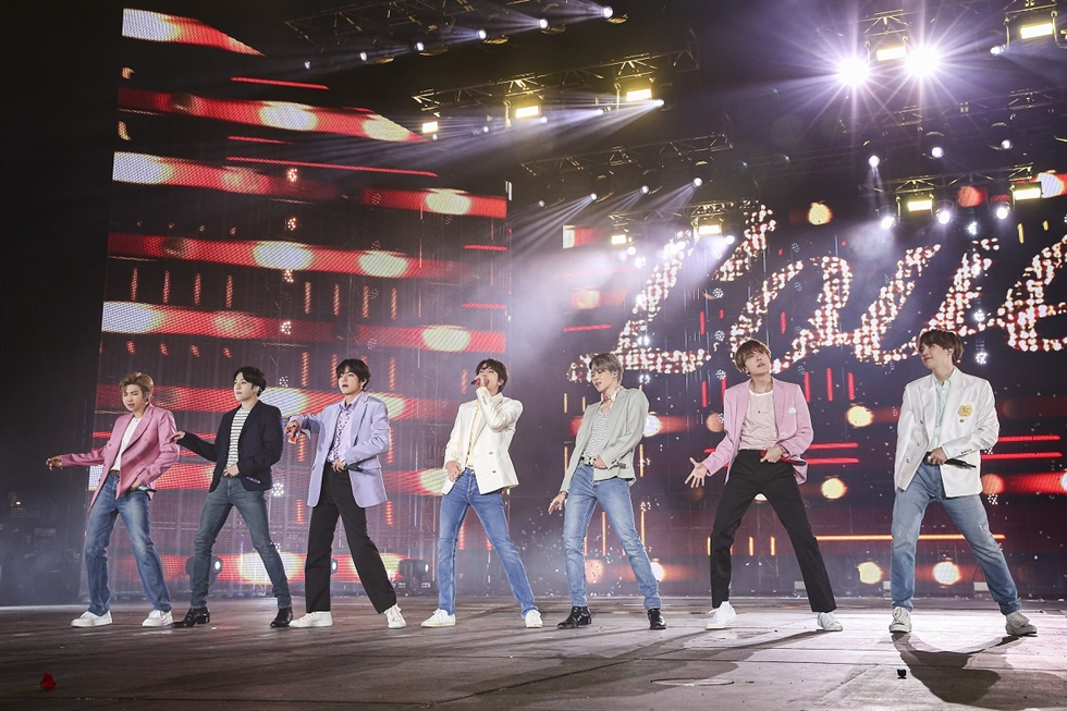 BTS wrapped up its 'LOVE YOURSELF: SPEAK YOURSELF' tour Tuesday at Seoul's Olympic Stadium. Courtesy of Big Hit Entertainment