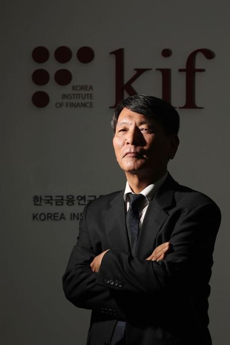 Korea Institute of Finance President Sohn Sang-ho poses following a recent interview at his office in Seoul. / Korea Times photo by Choi Won-suk