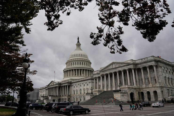 Clouds pass over the U.S. Capitol after a House vote approving rules for an impeachment inquiry into U.S. President Trump in Washington, U.S., October 31, 2019. REUTERS
