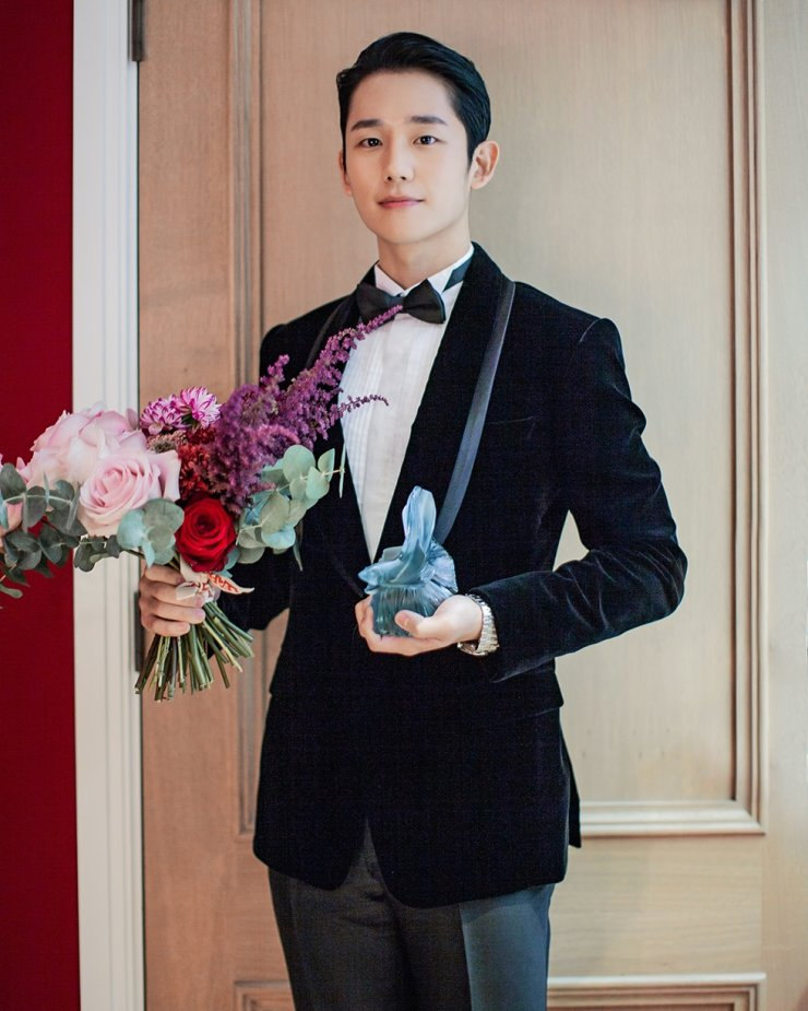 Actor Jung Hae-in has won a London film festival award for his movie 'Tune in for Love.' Courtesy of FNC Entertainment