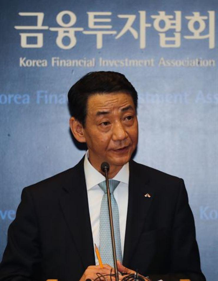 Kwon Yong-won, chairman of the Korea Financial Investment Association /Yonhap