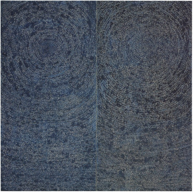 Kim Whan-ki's 1971 diptych '05-IV-71 #200 (Universe)' fetched 13.2 billion won (HK$88 million) at the 20th Century and Contemporary Art Evening Sale by Christie's Hong Kong on Saturday. Yonhap