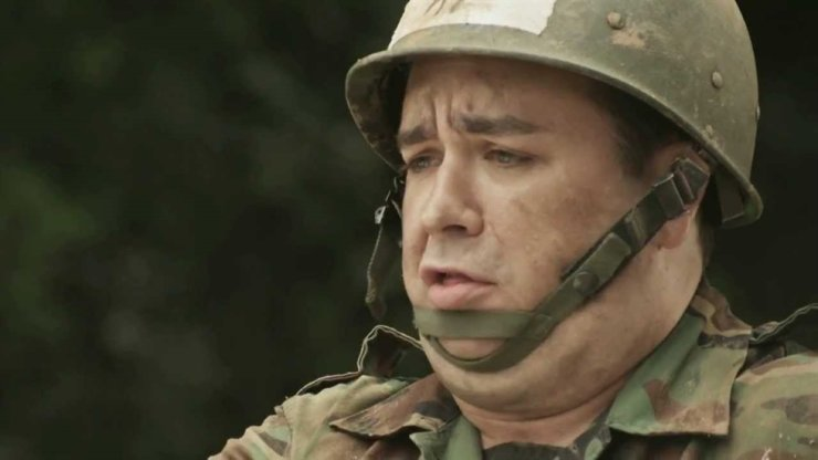 Australian TV celebrity Sam Hammington experiences Korean military training while filming TV real variety show 'Real Man' on MBC. Screen capture from YouTube
