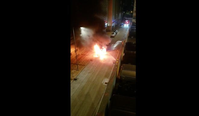 The attack occurred soon after 12:15 a.m. along Yiu Hing Road in Shau Kei Wan. Facebook