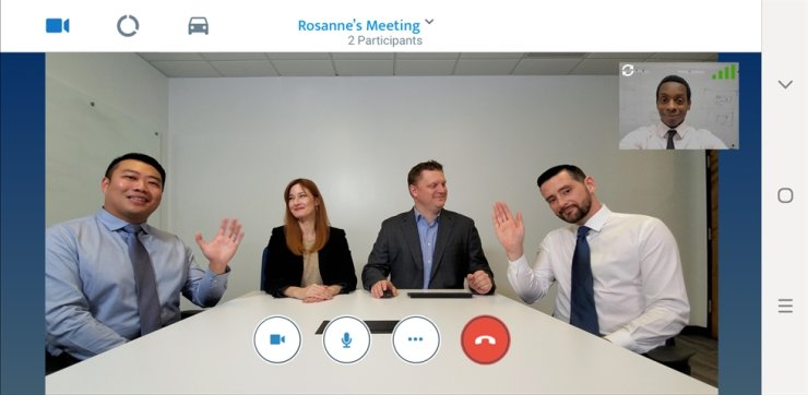 Samsung Electronics' Galaxy smartphone users take part in a video conference. / Courtesy of Samsung Electronics