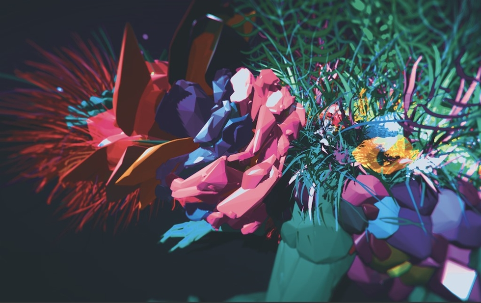 Futuredays Lab Young Artists' Gulliver Project, 'Lost White,' 2019 VR Art, Tilt Brush, Volumetric 3D Capture, Mixed Media / Courtesy of Production Company ONN