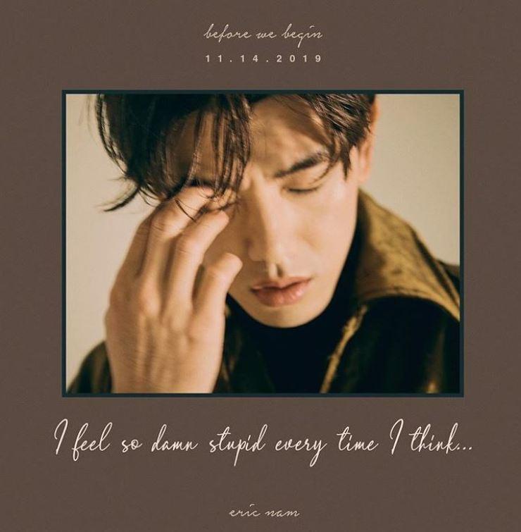 Eric Nam's new album 'Before We Begin.' Captured from Eric Nam's Instagram