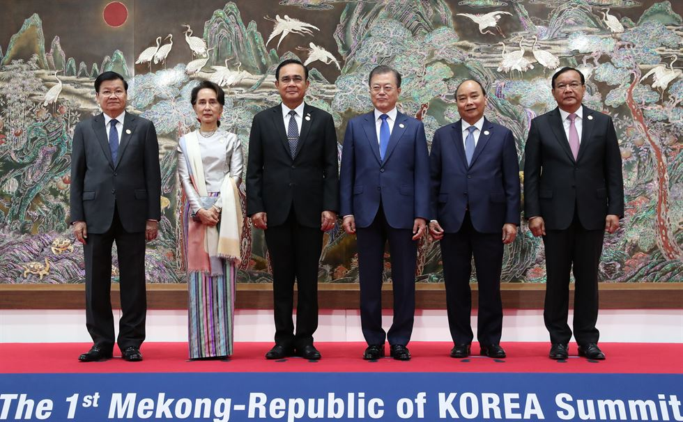 Scenes from the Korea-Mekong summit Yonhap