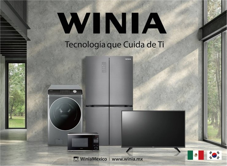 Winia Daewoo's home appliance lineup sold in Mexico / Courtesy of Winia Daewoo