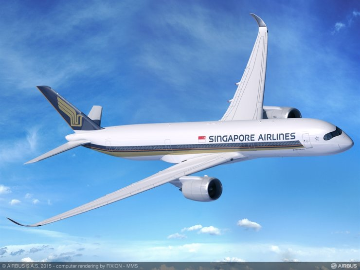 Singapore Airlines A350-900. Courtesy of Singapore Airlines