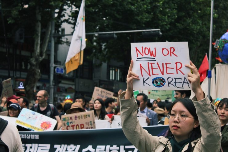 A scene at the Sept. 21 Climate Strike in Seoul / Courtesy of Austin Headrick