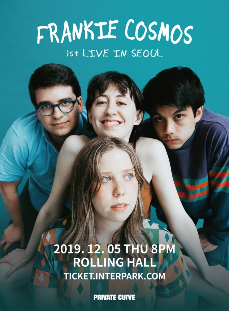 Frankie Cosmos and her band will come to Seoul for a concert on Dec.5./Courtesy of Private Curve