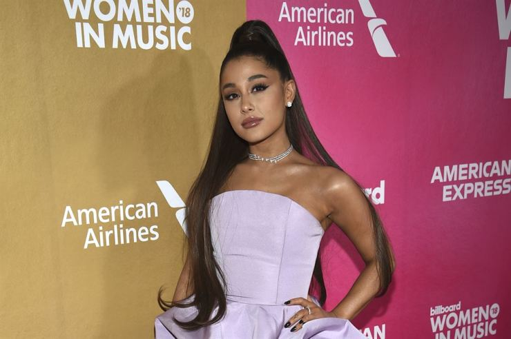 In this Dec. 6, 2018, file photo, Ariana Grande attends the 13th annual Billboard Women in Music event at Pier 36 in New York. AP
