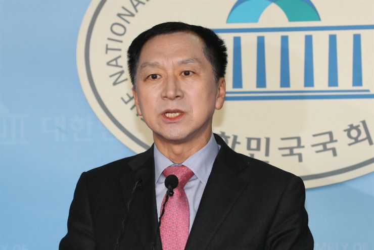 Former Ulsan Mayor Kim Gi-hyeon speaks during a press conference at National Assembly in Seoul, Wednesday. / Yonhap
