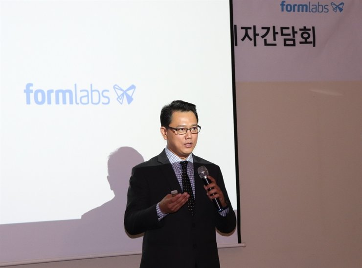 David Tan, general manager of Asia Pacific and Japan region at Formlabs, speaks during a press conference in Seoul, Tuesday. / Courtesy of Formlabs