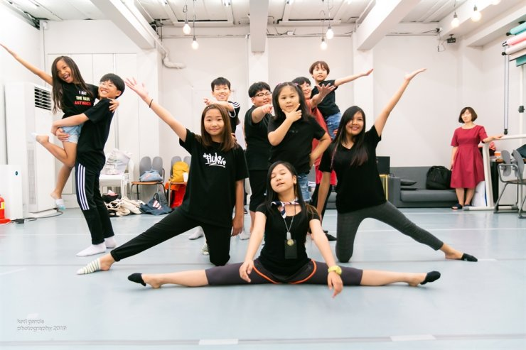 Members of Dream Key10z practice a musical show, scheduled for Sunday. / Courtesy of Korea Cultural Diversity Organization
