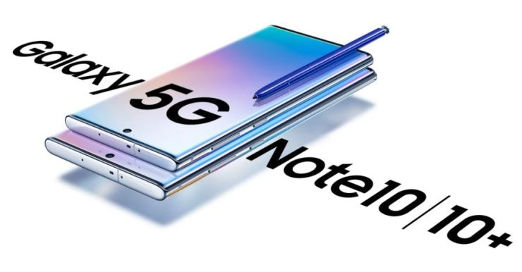 Samsung Electronics' Galaxy Note 10 5G smartphones equipped with Samsung Display's OLED displays. / Courtesy of Samsung Display