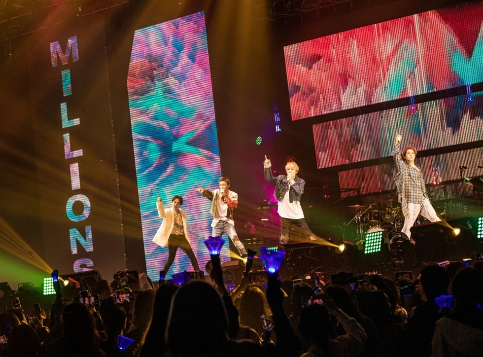 K-pop boy band WINNER held a concert in Macao on Dec. 28-29. Courtesy of YG Entertainment
