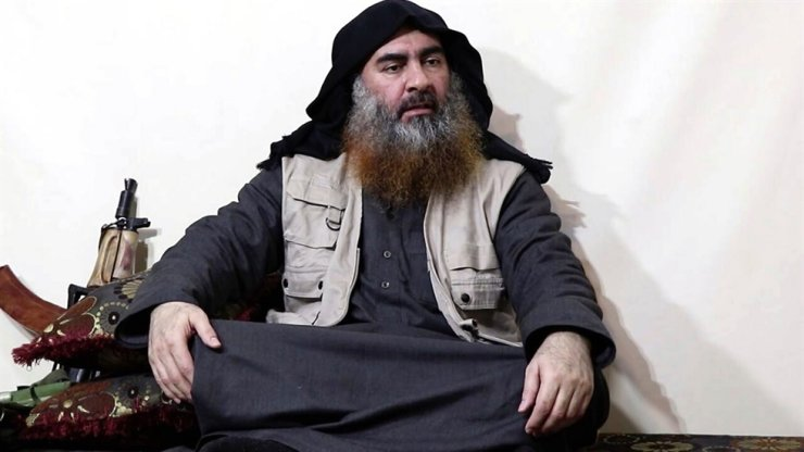 In the new video purportedly from Nigeria, the militants claim the murders were carried out in revenge for the death of Abu Bakr al-Baghdadi (pictured). AP